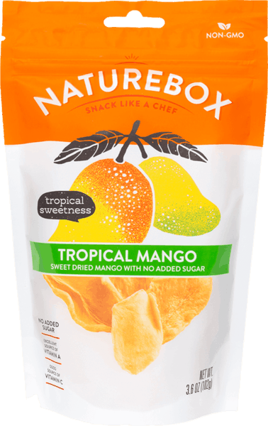 $1.00 for NatureBox Tropical Mango (expiring on Monday, 05/21/2018). Offer available at Safeway, Target, Cost Plus.