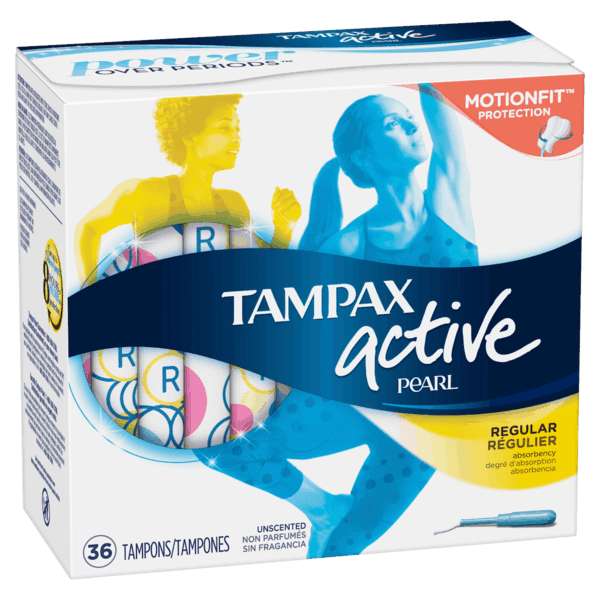 $0.70 for Tampax® Pearl Active (expiring on Saturday, 06/02/2018). Offer available at multiple stores.