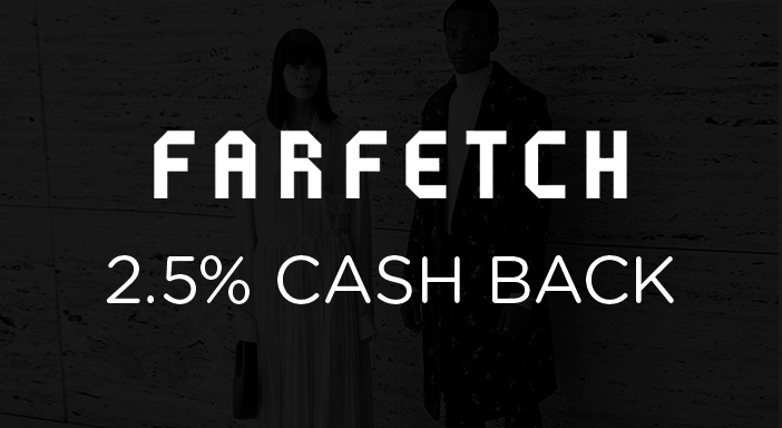 $0.00 for Farfetch (expiring on Monday, 03/31/2025). Offer available at Farfetch.