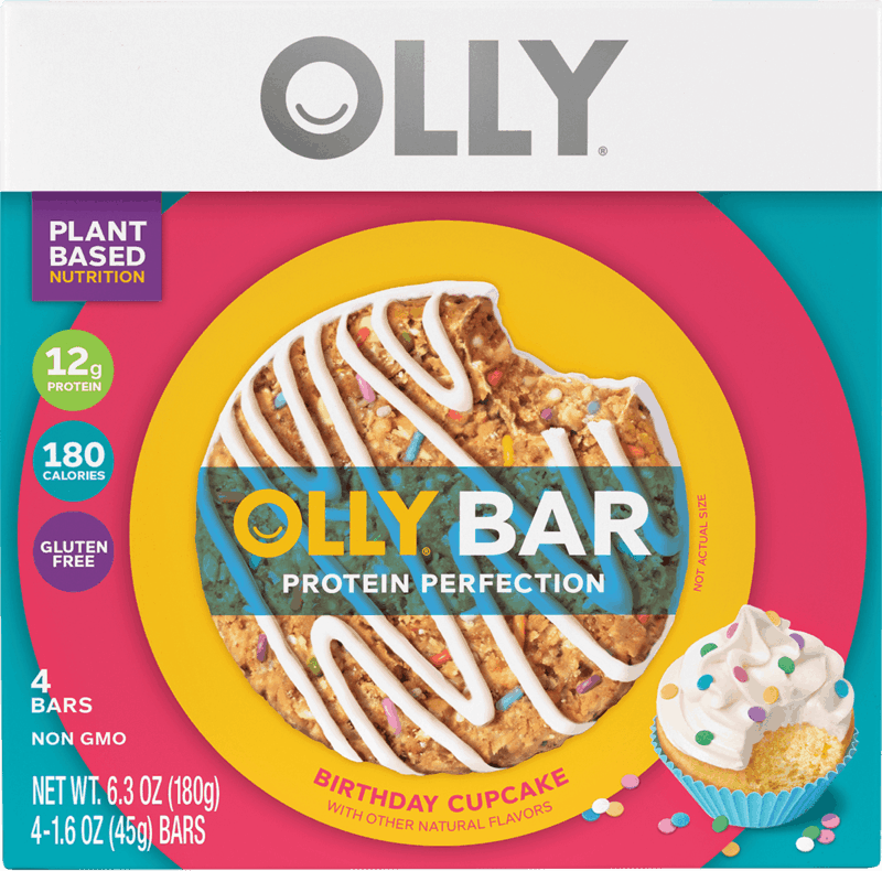 $1.50 for OLLY 4-Pack Protein Bars (expiring on Saturday, 02/29/2020). Offer available at Target, Kroger, Ralphs, Fred Meyer, Smith's.