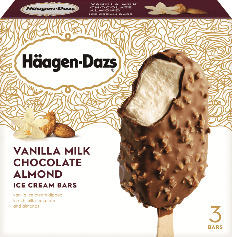 $1.50 for Häagen-Dazs® Frozen Dessert Bars and Ice Cream Cookie Squares (expiring on Sunday, 08/04/2019). Offer available at Target.