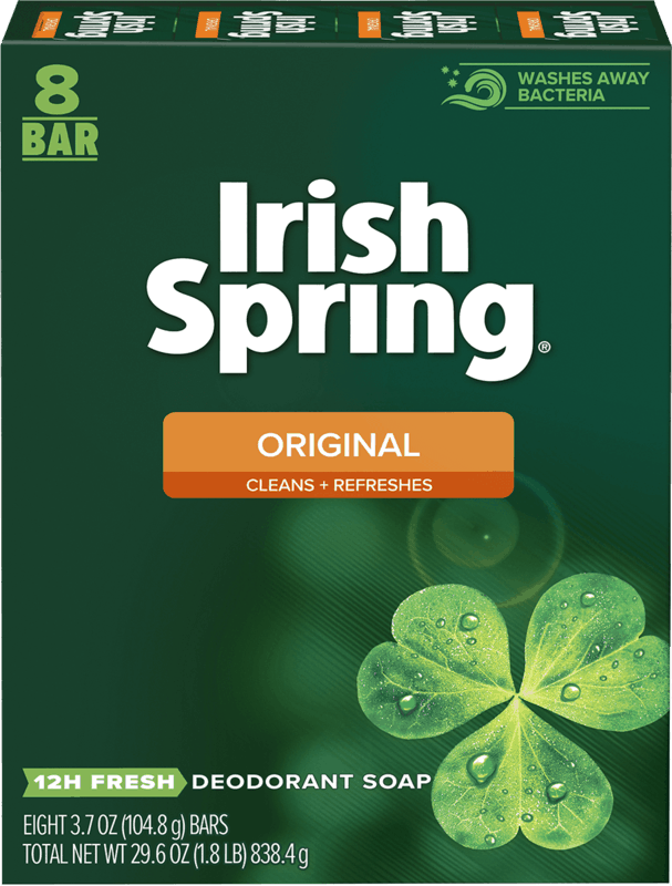 $0.75 for Irish Spring® Bar Soap (expiring on Saturday, 09/18/2021). Offer available at Walmart, Walmart Pickup & Delivery.
