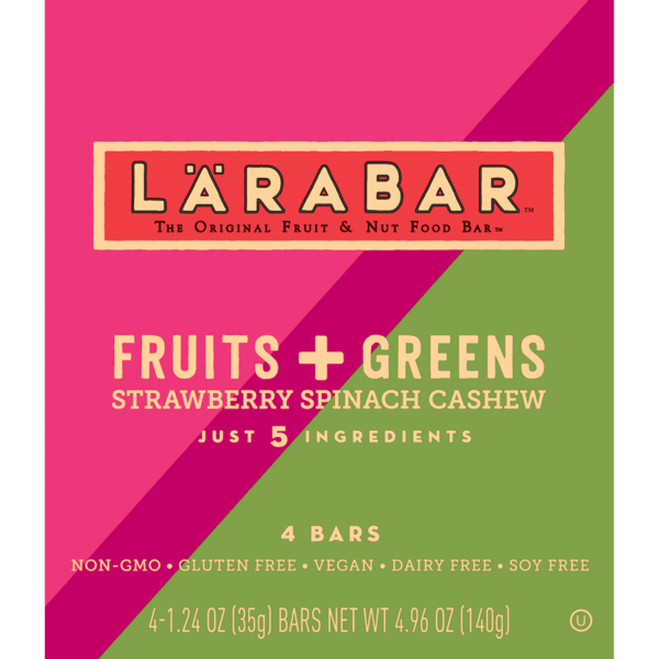 $1.00 for LÄRABAR® Fruits + Greens Bars (expiring on Saturday, 03/02/2019). Offer available at Target.