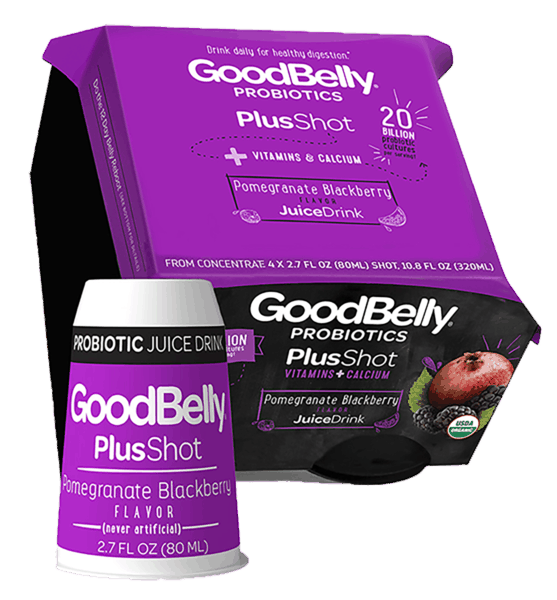 $0.85 for GoodBelly® Probiotics PlusShot (expiring on Wednesday, 05/02/2018). Offer available at multiple stores.