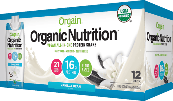 $5.00 for Orgain® Plant-Based Organic Nutritional Shake (expiring on Sunday, 12/31/2017). Offer available at Wegmans.