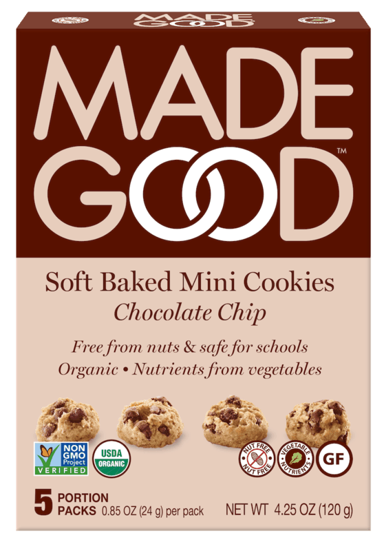 $1.50 for MadeGood Soft Baked Mini Cookies (expiring on Friday, 08/07/2020). Offer available at Target.
