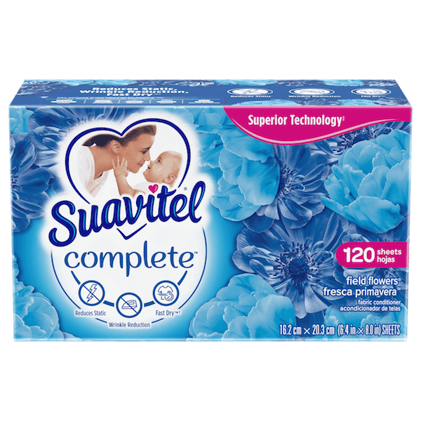 $0.75 for Suavitel® Complete Dryer Sheets (expiring on Monday, 12/02/2019). Offer available at Walmart.