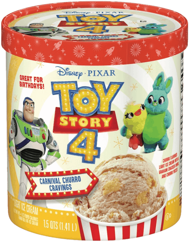 $0.50 for Toy Story 4 Light Ice Cream. Offer available at Walmart.