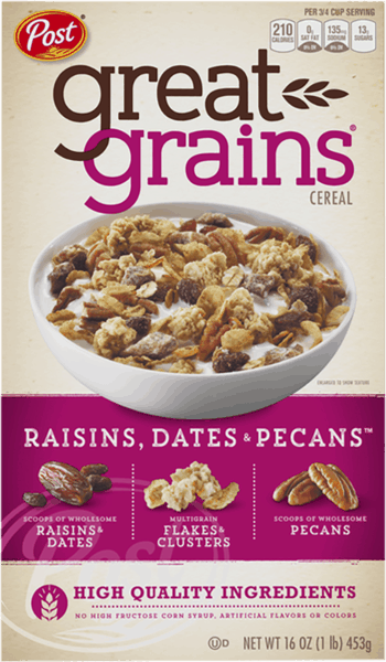 $0.50 for Great Grains® Cereal (expiring on Monday, 04/02/2018). Offer available at Target.