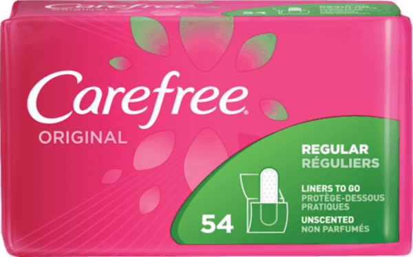 $1.25 for Carefree® Original Liners. Offer available at multiple stores.
