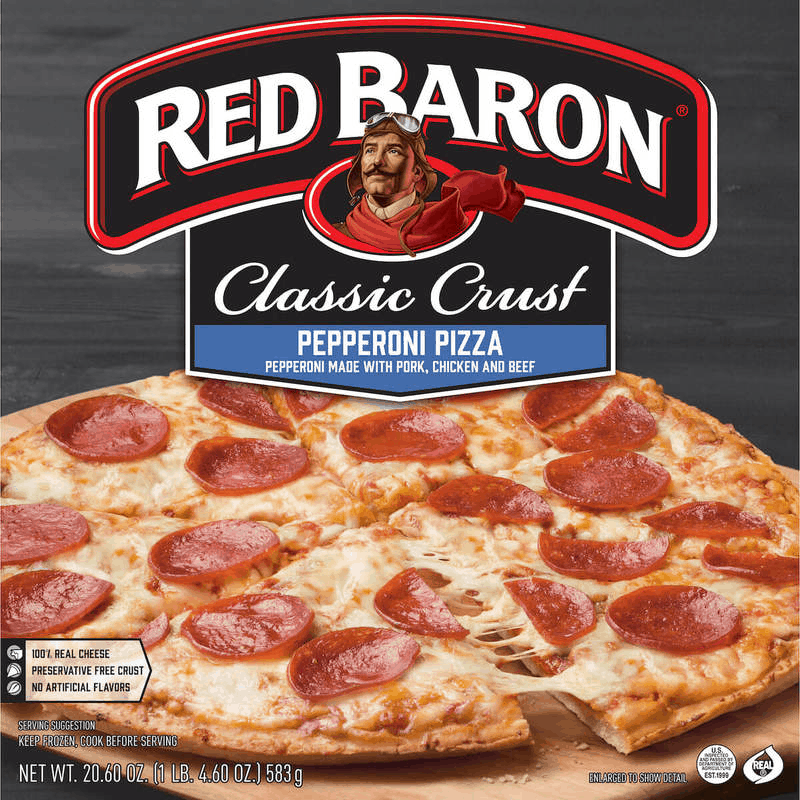 $1.00 for Red Baron® Pizza. Offer available at multiple stores.