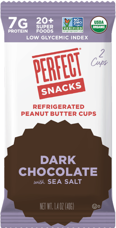 $0.50 for PERFECT Snacks® Refrigerated Peanut Butter Cups (expiring on Tuesday, 02/18/2020). Offer available at Whole Foods Market®.