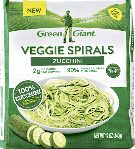 $0.50 for Green Giant® Veggie Spirals (expiring on Sunday, 09/02/2018). Offer available at Walmart.