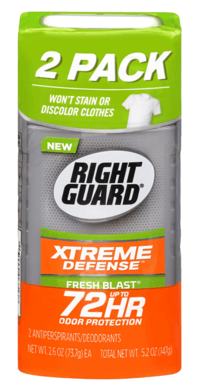 $2.00 for Right Guard Xtreme Defense Twin Pack (expiring on Saturday, 05/16/2020). Offer available at Walmart, Walmart Grocery.