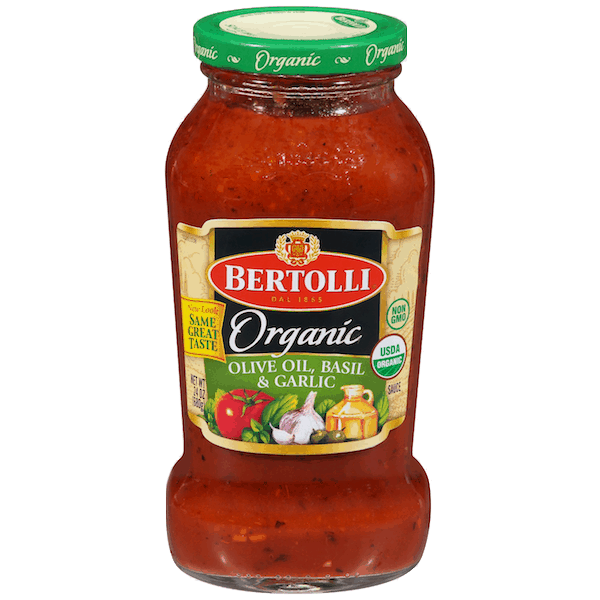 $1.00 for Bertolli® Organic Sauce (expiring on Tuesday, 04/02/2019). Offer available at Target, Walmart.