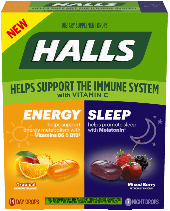 $1.00 for Halls Energy & Sleep (expiring on Saturday, 10/31/2020). Offer available at Walmart, Walmart Grocery.
