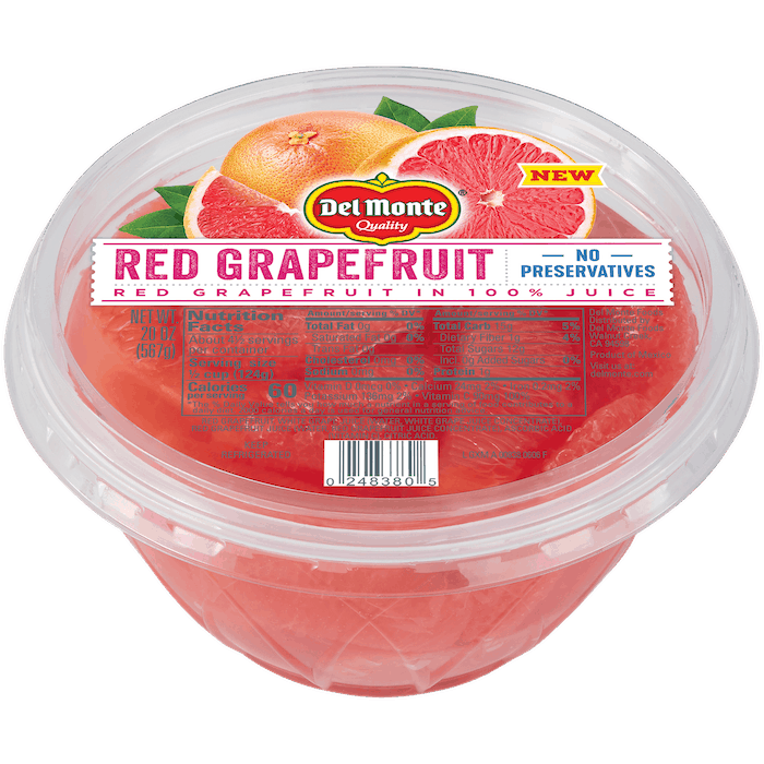 $0.75 for Del Monte Citrus Bowls (expiring on Saturday, 10/31/2020). Offer available at Walmart, Walmart Grocery.