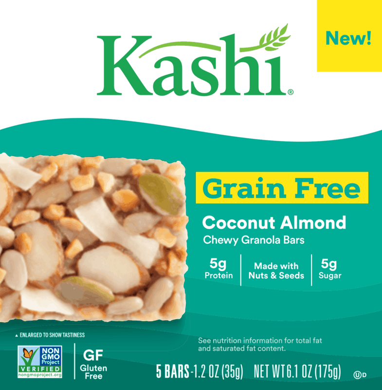 $0.50 for Kashi Grain Free Bars (expiring on Saturday, 10/31/2020). Offer available at multiple stores.