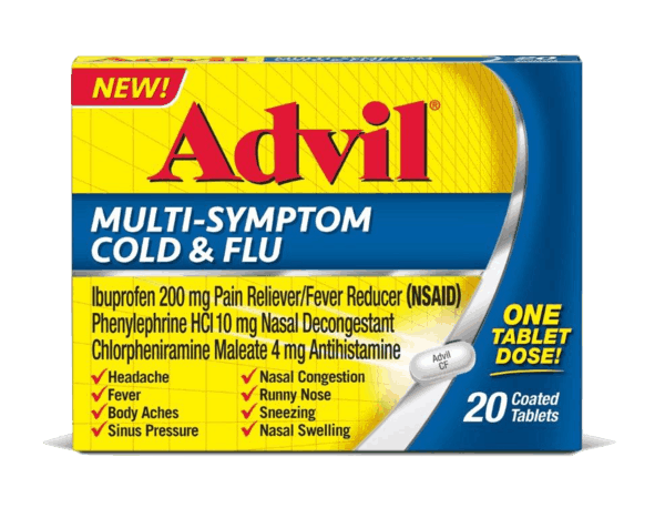 $3.00 for Advil Multi Symptom Cold and Flu. Offer available at multiple stores.