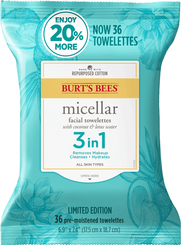 $1.00 for Burt's Bees Towelettes (expiring on Saturday, 09/18/2021). Offer available at Walmart, Walmart Pickup & Delivery.