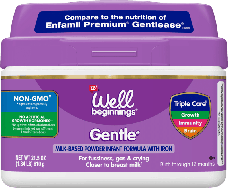 $4.00 for Well Beginnings Gentle Infant Formula. Offer available at Walgreens.