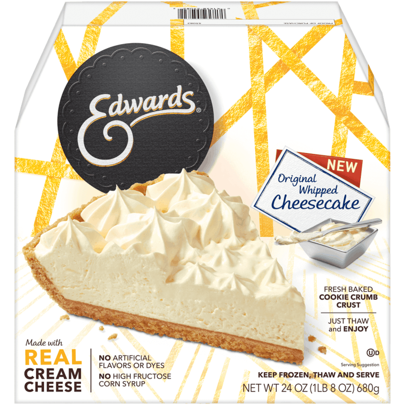 $1.00 for Edwards® Original Whipped Cheesecake (expiring on Tuesday, 04/14/2020). Offer available at multiple stores.