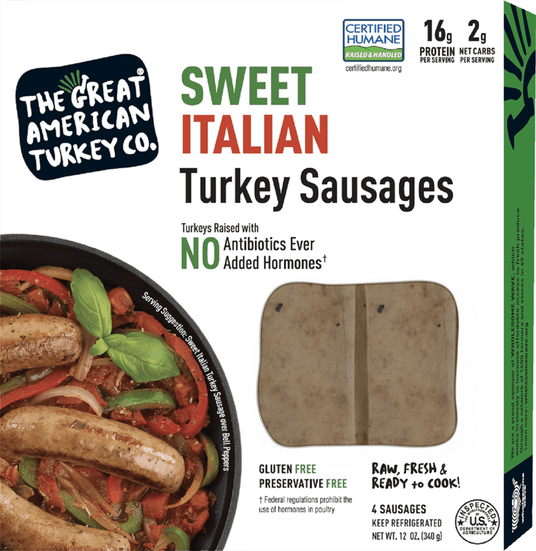 $1.00 for The Great American Turkey Co. Sausages (expiring on Saturday, 10/31/2020). Offer available at Publix.