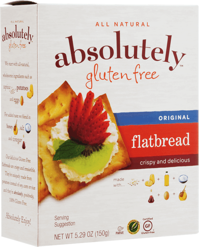 $1.00 for Absolutely Gluten Free Crackers & Flatbread (expiring on Monday, 06/29/2020). Offer available at multiple stores.