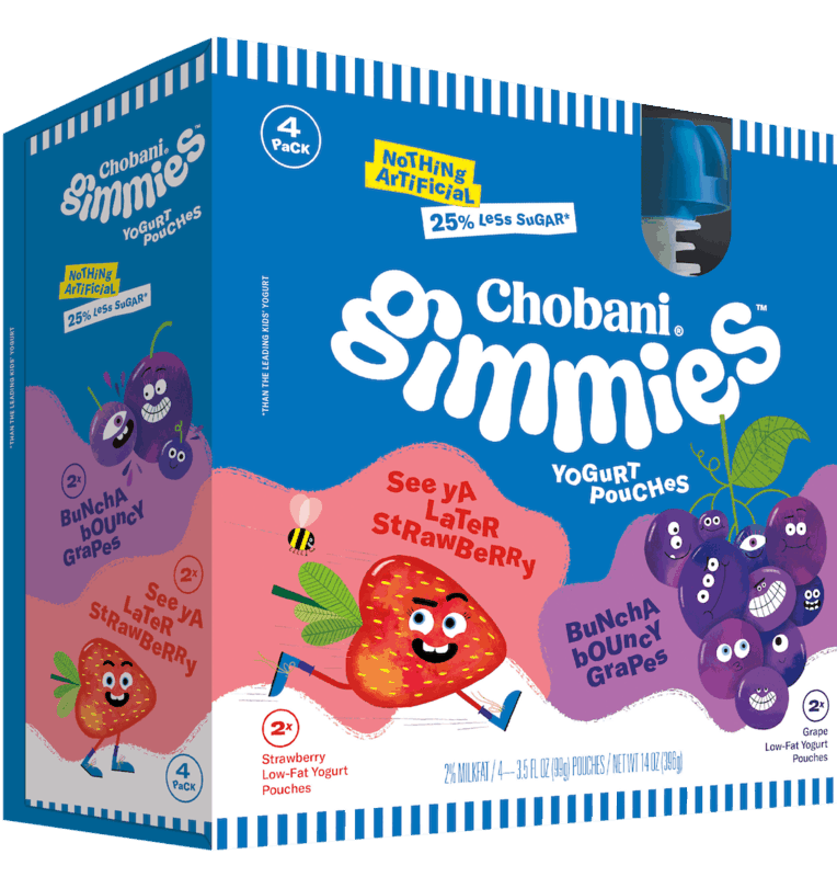 $1.50 for Chobani® Gimmies™ Kids' Yogurt Pouches. Offer available at Walmart.
