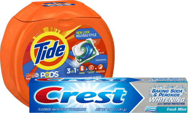 $2.00 for Tide® PODS™ or Gain® Flings™ & Crest® Toothpaste (expiring on Monday, 09/18/2017). Offer available at Walmart.