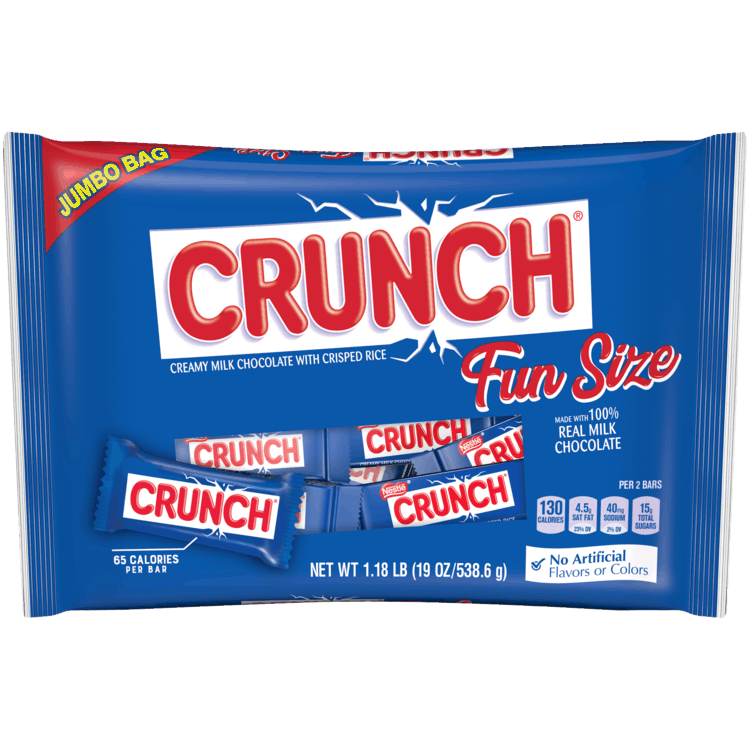 $1.50 for Crunch Fun Size, 19.0 oz (expiring on Sunday, 08/02/2020). Offer available at Walmart.