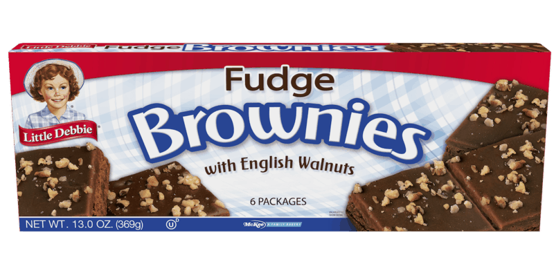 $0.50 for Little Debbie Fudge Brownies with English Walnuts (expiring on Tuesday, 06/02/2020). Offer available at multiple stores.