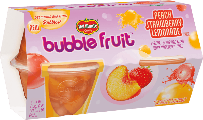 $0.75 for Del Monte® Bubble Fruit™ (expiring on Sunday, 02/02/2020). Offer available at Walmart.