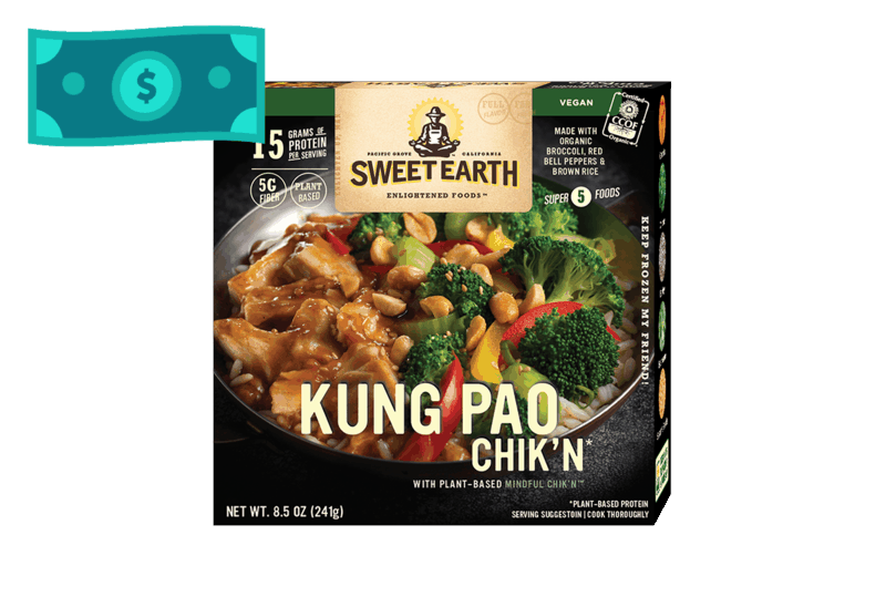 $0.75 for Sweet Earth Foods Artisan Bowls. Offer available at multiple stores.