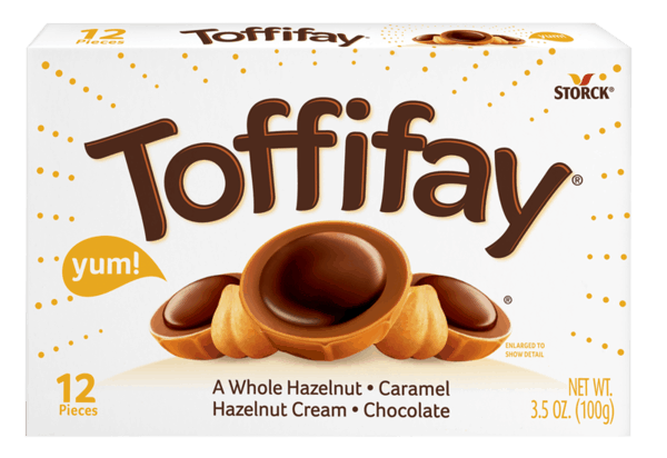 $0.50 for Toffifay® Caramel Chocolate Hazelnut Chewy Candy (expiring on Tuesday, 05/01/2018). Offer available at multiple stores.