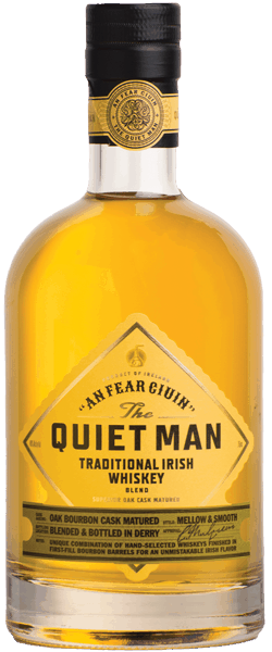 $6.00 for The Quiet Man Blended Whiskey. Offer available at multiple stores.