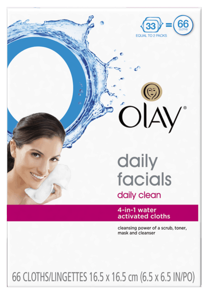 $1.00 for Olay Daily Facials Cleansing Cloths (expiring on Saturday, 06/02/2018). Offer available at Target.