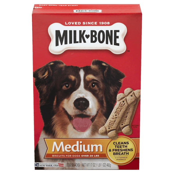 $0.50 for Milk Bone® Dog Biscuits (expiring on Tuesday, 04/02/2019). Offer available at Family Dollar.