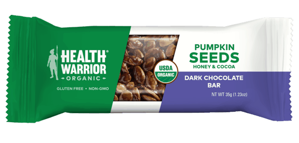 $0.50 for Health Warrior Pumpkin Seed Bars (expiring on Thursday, 07/02/2020). Offer available at multiple stores.