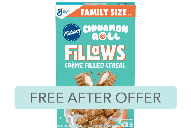 $3.00 for Fillows™ Crème Filled Cereal. Offer available at multiple stores.