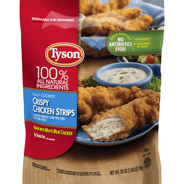 $1.25 for Tyson® Crispy Chicken Strips (expiring on Tuesday, 02/19/2019). Offer available at Dollar General.