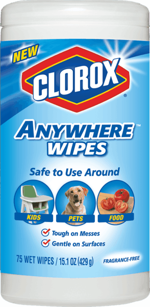 $1.25 for Clorox® Anywhere™ Wipes. Offer available at Walmart.