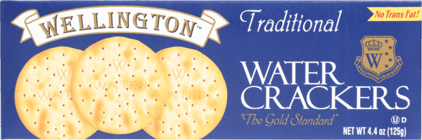 $0.75 for Wellington® Water Crackers (expiring on Sunday, 09/02/2018). Offer available at multiple stores.