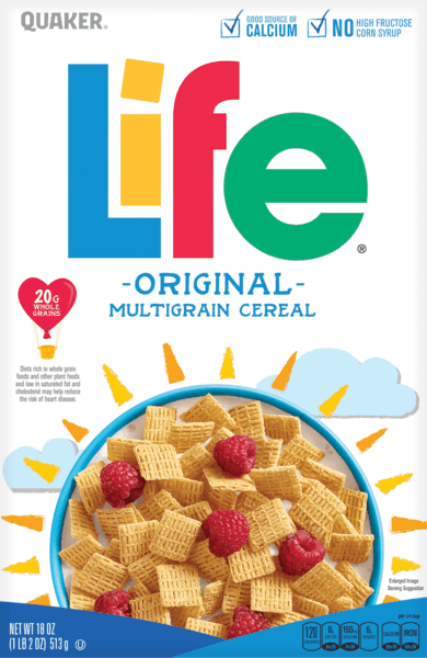 $0.50 for Life® Cereal (expiring on Thursday, 05/02/2019). Offer available at multiple stores.