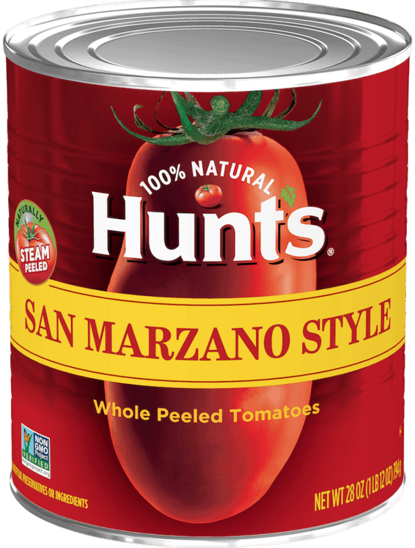 $0.25 for Hunt's® San Marzano Style Whole Peeled Tomatoes (expiring on Friday, 07/31/2020). Offer available at Walmart, Walmart Grocery.