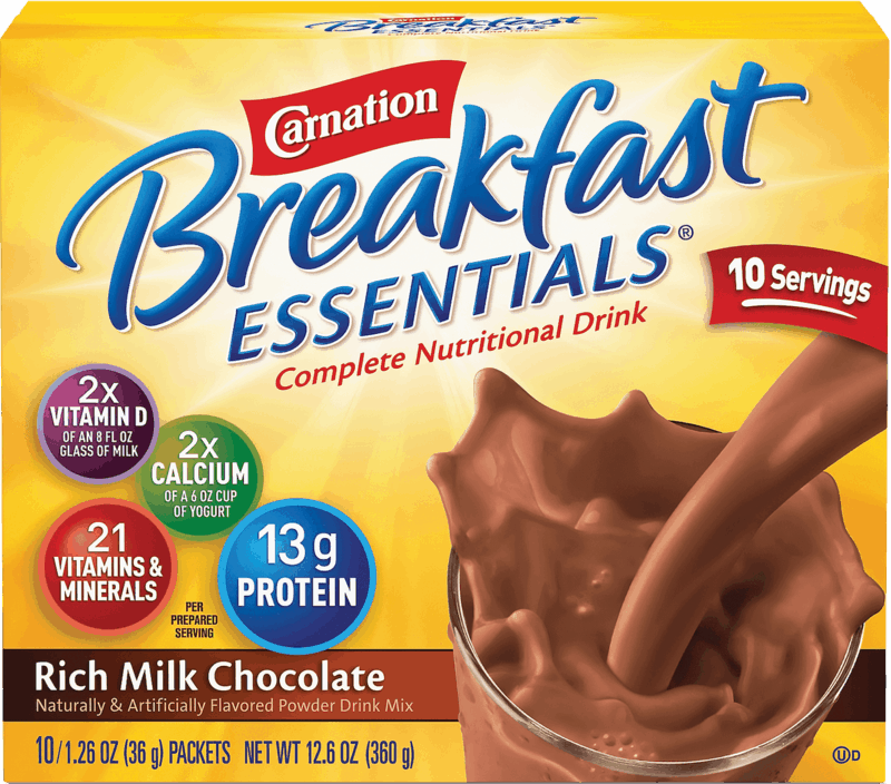 $0.50 for Carnation Breakfast Essentials® Nutritional Products Powder Drink Mix (expiring on Sunday, 02/02/2020). Offer available at Walmart.