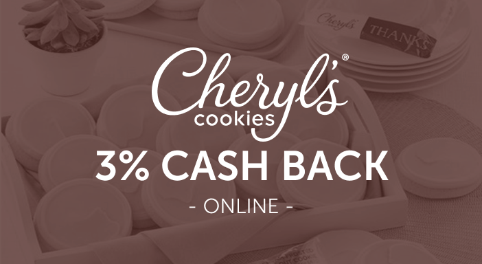 $0.00 for Cheryl's (expiring on Friday, 10/31/2025). Offer available at Cheryl's.