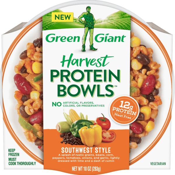 $1.00 for Green Giant® Harvest Protein Bowls™. Offer available at multiple stores.