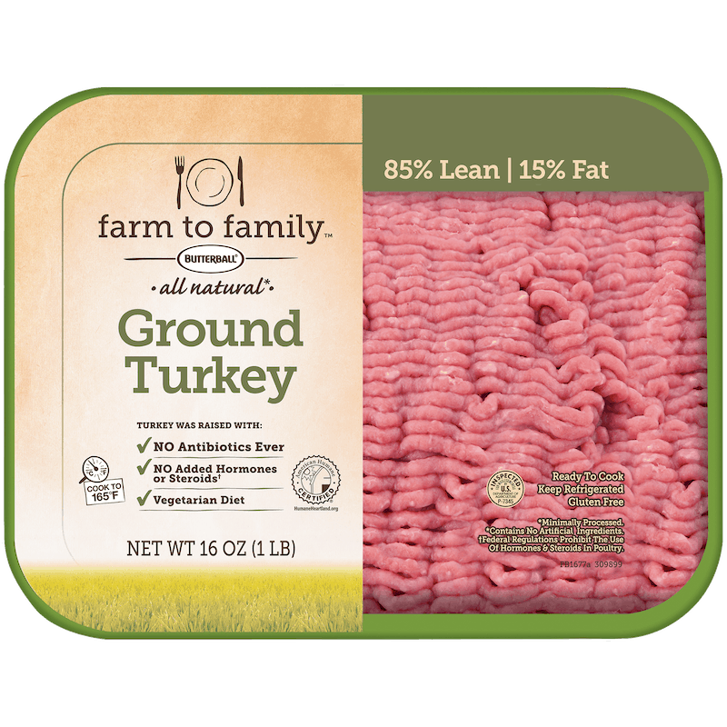 $1.00 for Butterball Farm to Family Ground Turkey (expiring on Monday, 12/21/2020). Offer available at Walmart, Walmart Grocery.