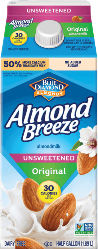 $0.25 for Almond Breeze (expiring on Monday, 08/23/2021). Offer available at Walmart, Walmart Pickup & Delivery.